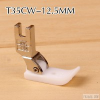 智足T35CW-12.5MM平车压脚 塑料压脚 宽压脚 塑料宽压脚 铁氟龙